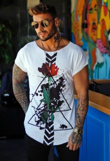 CAMISETA 3/4 FLOWER TINT